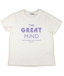 CHEER GIRL/英ロゴシルケット半袖Tシャツ/503159607