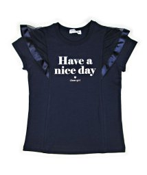 CHEER GIRL/肩フリルシルケット半袖Tシャツ/503159611