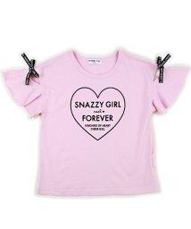 CHEER GIRL/袖ギャザーシルケット半袖Tシャツ/503159612