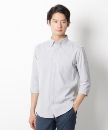 THE SHOP TK/コットン混七分袖ボタンダウンシャツ/503159758