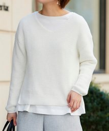le.coeur blanc OUTLET/ワッフルアミVネックニット/503159842