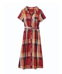 REDYAZEL/半袖オリジナルスプリングチェックシャツワンピース/503120398