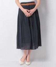 Eimy Peal by POWDER SUGAR/メッシュベルト付きマキシギャザースカート/503139145