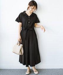 haco!/きちんとしなきゃいけないけど かわいくいたいときに便利な とろみ素材の開衿ワンピース/503141806