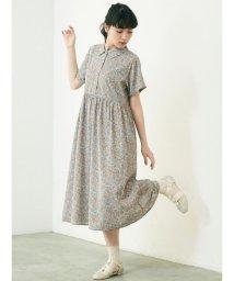 merry jenny/シフォンfloralシャツワンピース/503160676