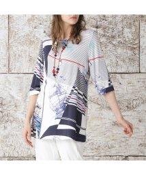 Liliane Burty/マリーンシップ 手描き風インポートTシャツ/503160990