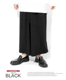 one colors/日本製 国産 デザイナーズ モノトーン スラックス ワイドパンツ メンズ 男性 ユニセックス ロングスカート スカート ワイド 個性的 モード 黒 サロン系 衣/503161436