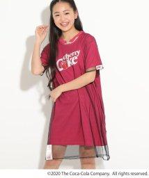 PINK-latte/★ニコラ掲載★【COCA-COLA/Cherry Coke/コカ・コーラ/チェリーコーク】チョーカー付きチュールワンピース/503162661