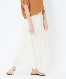 abahouse mavie/ecru ライトクロスギャザースカート/503165255