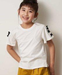 a.v.v(KID'S)/[140-150]レースアップデザイン半袖Tシャツ/503013186