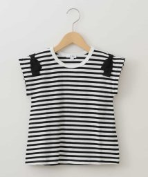 a.v.v(KID'S)/[140-150]ショルダーリボン半袖Tシャツ/503013187