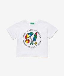 BENETTON (UNITED COLORS OF BENETTON GIRLS)/ショート丈ロゴプリントTシャツ・カットソー/503121781