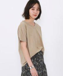 coen/USAコットンVネックTシャツ/503137725