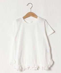 b-ROOM/裾フリル無地チュニック丈Tシャツ/503145585
