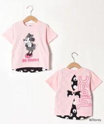 X-girl Stages/【DISNEY】 ミニーマウスデザイン バック切り替えTシャツ/503145630