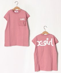 X-girl Stages/胸ポケットロゴTシャツワンピース/503145631