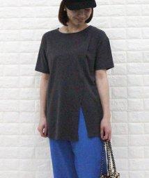 FREDY REPIT/ポンチスリットチュニックTシャツ/503151862