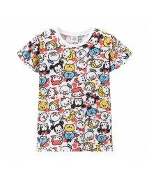 MAC HOUSE(kid's)/Disney ディズニー ガールズ 総柄ツムツムTシャツ 326107090/503152706