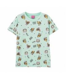 MAC HOUSE(kid's)/Disney ディズニー ガールズ チップとデール総柄Tシャツ 326107092/503152707