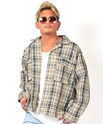 LUXSTYLE/チェック柄ワークシャツジャケット/ワークジャケット メンズ ジャケット ビッグシルエット チェック柄/503159971