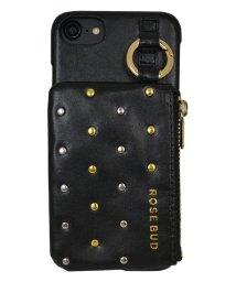 Mーfactory/iPhone SE(第2世代)/8/7/6s/6 ROSEBUD [コインケース付き背面ケース/ブラック]/503165218