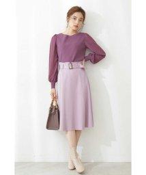 PROPORTION BODY DRESSING/◆ベルト付きカラーツイルフレアスカート/503166518