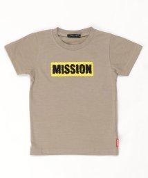 NEXT WALL/「120-00」キッズ Tシャツ 子供服 半袖 男の子 ボーイズ ティーシャツ プリント サガラ ワッペン ロゴ /503167371