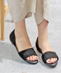 ALETTA/究極のセパレートサンダル サンダル ローヒール ブラック 痛くない 幅広 走れる オープントゥ セパレート 1cmヒール ぺたんこ ベージュ 春 夏 外反拇趾 /503167438