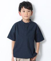 devirock/スタンドカラー半袖シャツ/503167809
