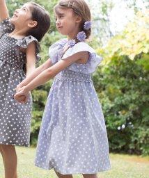 KUMIKYOKU KIDS/【150-160cm】リネンライクドットプリント ワンピース/503169182