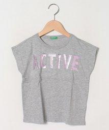 BENETTON (UNITED COLORS OF BENETTON GIRLS)/ワイドスリーブフォイルプリント半袖Tシャツ・カットソー/503157625