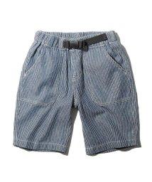THE SHOP TK(KID)/【160cm】デニム/ヒッコリー飾りベルト付きショートパンツ/503169999
