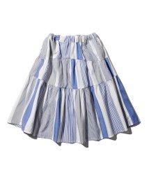 THE SHOP TK(KID)/【100-140cm】ママおそろいドビーストライプティアードスカート/503170005