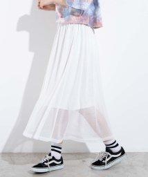 WEGO/WEGO/メッシュロングスカート/503009832