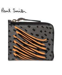 PaulSmith/ポールスミス Paul Smith 財布 レディース 二つ折り 本革 ラウンドファスナー SMART WALLET ブラック 4539/503010922