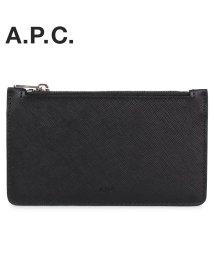 A.P.C./A.P.C. アーペーセー 財布 二つ折り メンズ NEW PORTEFEUILLE LONDON ブラック 黒 PXBJQ-H63205 [1/21 新入荷]/503014938