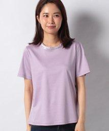 CARA O CRUZ/箔プリントTシャツ/503121307