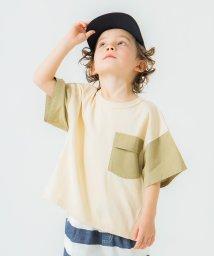 branshes/異素材配色切り替え半袖Tシャツ/503127610