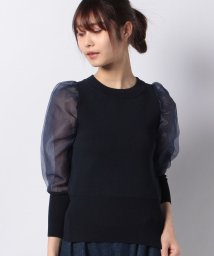 who's who Chico/【who's who Chico】8分袖オーガンジースリーブKNIT/503152747