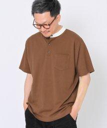 coen/鹿の子スタンドカラーポロシャツ/503155116