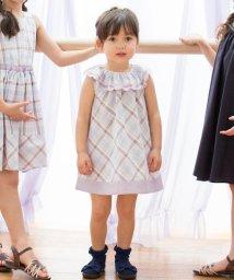 KUMIKYOKU KIDS/【80-100cm】ナチュラルマドラス ワンピース/503171095