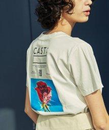 CAST:/半袖バックプリントローズ アートT/503081559
