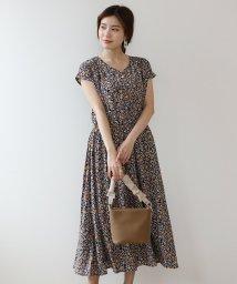 Bou Jeloud/サイドプリーツ花柄ワンピース/503125857