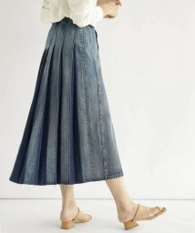 FIKA./FIKA. Backpleats Denim Skirt/503145648