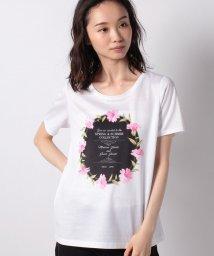 MADAM JOCONDE/【洗える】 InvitationモチーフプリントTシャツ/コットン天竺 /503167887