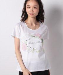 MADAM JOCONDE/【洗える】 ボタニカルフラワーロゴプリントTシャツ/コットン天竺/503167888
