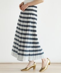 LASUD/[soeur7] 【手洗い可】リバーシブルワッシャー ボーダースカート/503171147