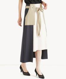 LASUD/[RADIATE] 【手洗い可】ボンディング配色スカート/503171176