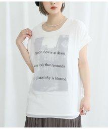 Settimissimo/モノトーンタウンプリント3DTシャツ/503172119