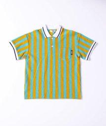 WASK/ストライプビッグポロシャツ(140cm~160cm)/503172218